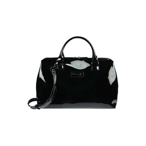 Lipault Plume Vinyle Bowling Bag M in the color Black.
