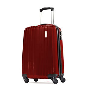 "Samsonite Carbon1 DLX 20"" Spinner in the color Red."