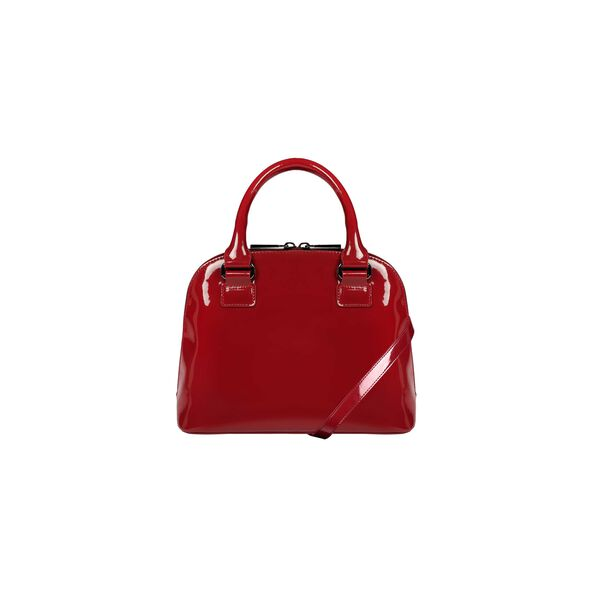 Lipault Plume Vinyle Handle Bag S in the color Ruby.