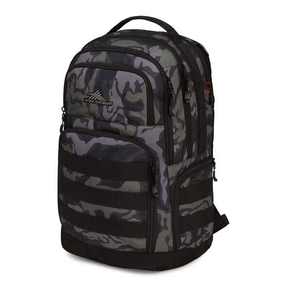 High Sierra Rownan Backpack in the color Kamo/Black.
