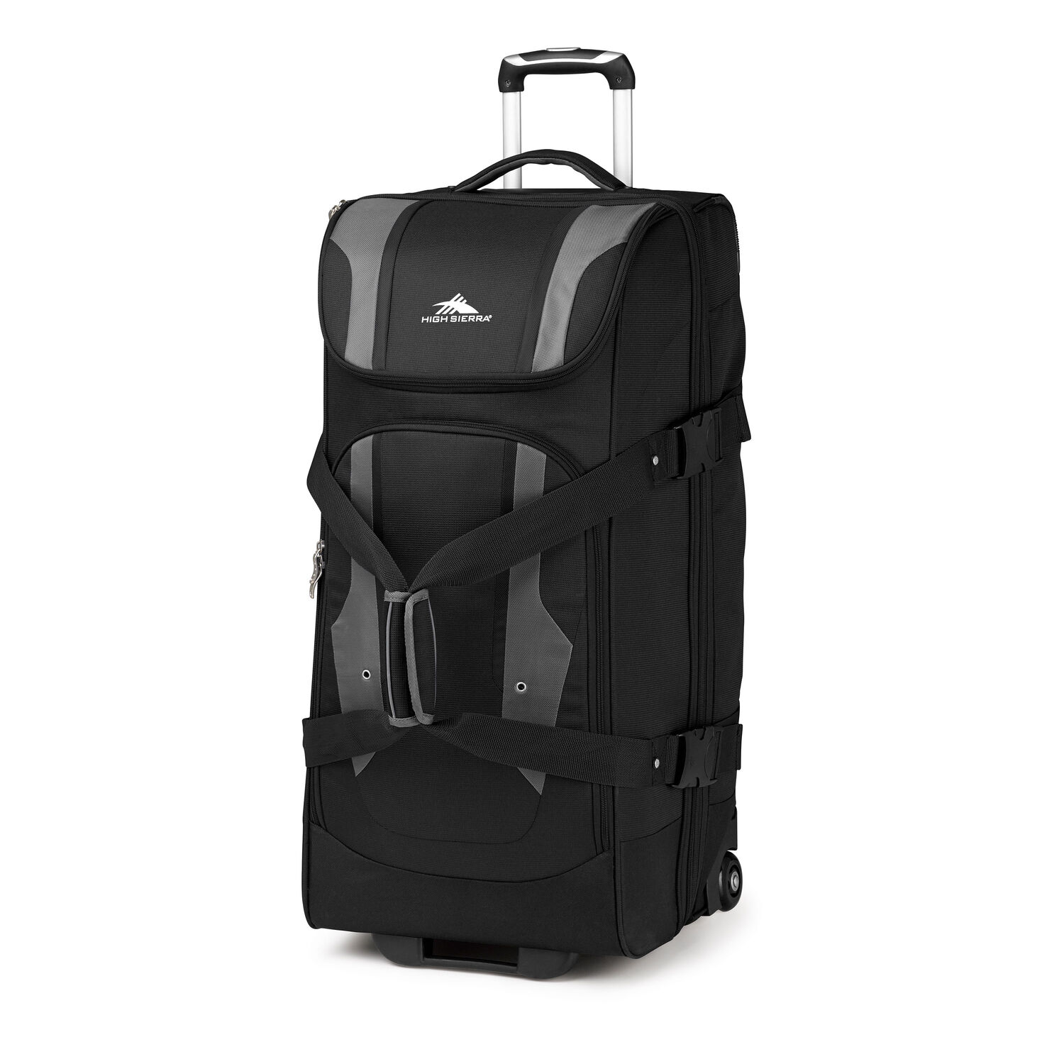High sierra adventure access 32 wheeled duffel in the color black