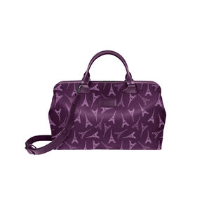 Lipault Lady Plume Bowling Bag (M) in the color Eiffel Tower/Purple.