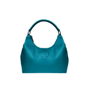 Lipault Lady Plume Hobo Bag (M) in the color Duck Blue.