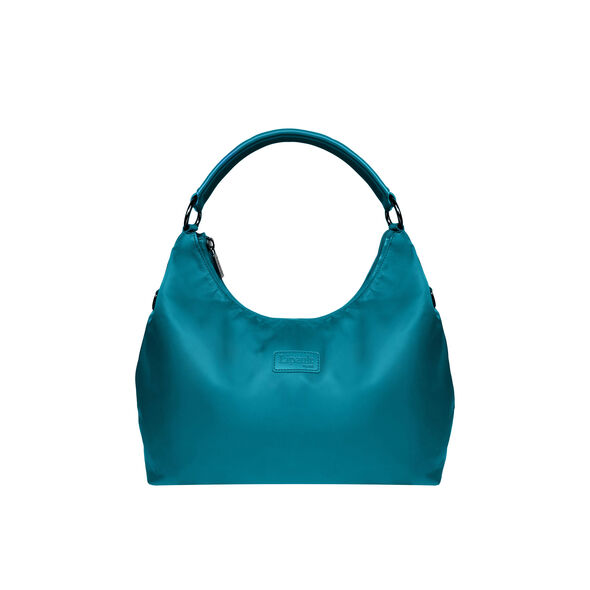 Lipault Lady Plume Hobo Bag M in the color Duck Blue.