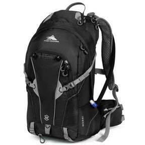 High Sierra Moray 22L Hydration Pack in the color Black/Silver.
