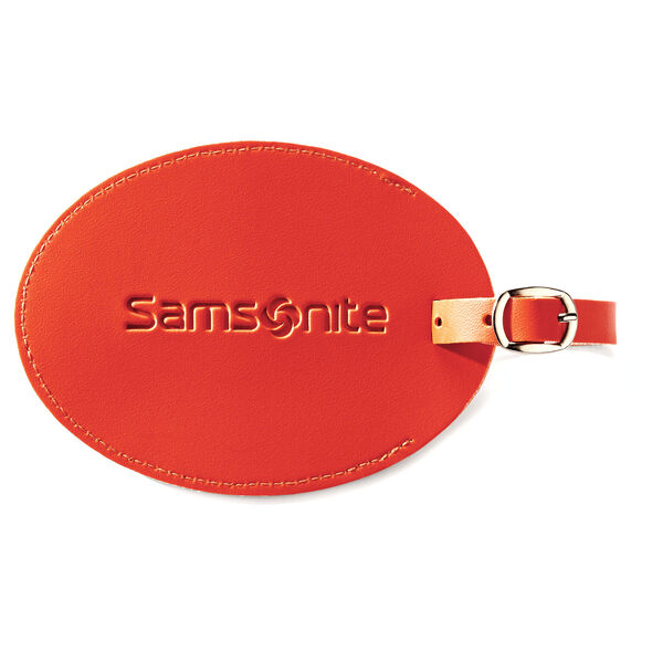 Samsonite Large Vinyl ID Tag in the color Juicy Orange.