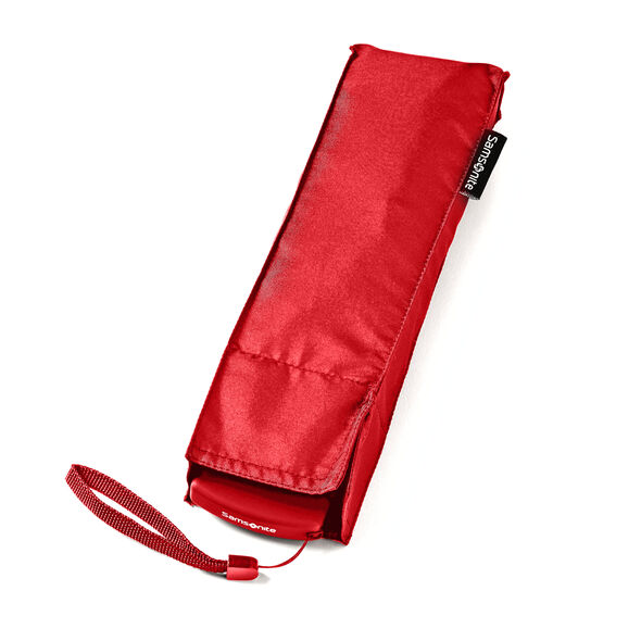 Samsonite Manual Flat Compact Umbrella in the color Red.