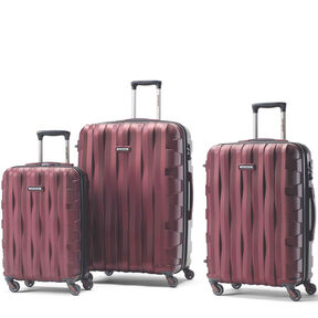 Samsonite Prestige 3D 3 Piece Set in the color Burgundy.