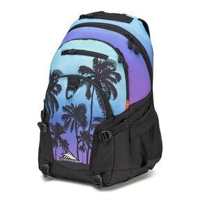 High Sierra Loop Plus Backpack in the color Palm Trees/Black.