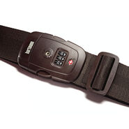 Hartmann TSA Combination Luggage Strap in the color Brown.
