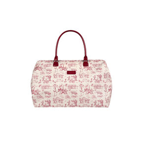 Lipault Lady Plume Weekend Bag M in the color Toile de Jouy/Amaranth.