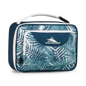 High Sierra Lunch Packs Single Compartment in the color Palms/Lagoon/White.