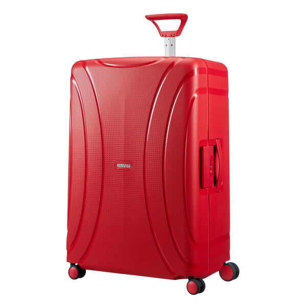 "American Tourister Lock-N-Roll 28"" Spinner in the color Formula Red."