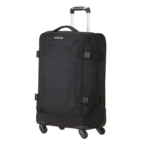 American Tourister Road Quest Spinner Duffle Medium in the color Solid Black.