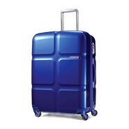 "American Tourister Cube Pop 24"" Spinner in the color Blue."