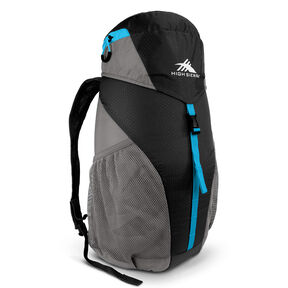 High Sierra Pack-N-Go 2 20L Sport Backpack in the color Black/Charcoal/Pool.