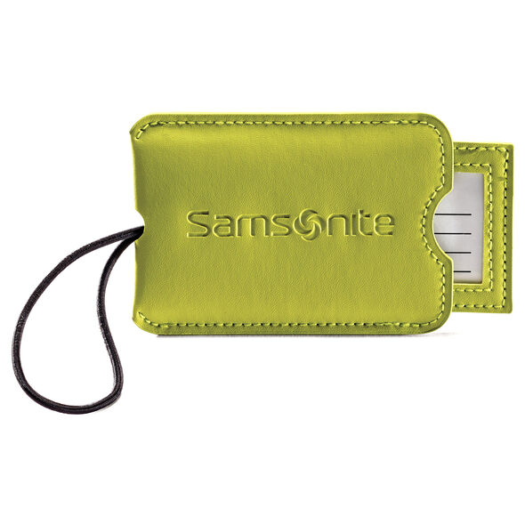 Samsonite Vinyl ID Tag (Set of 2) in the color Neon Green.
