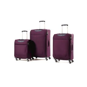 Samsonite Base Hits 3 Piece Set in the color Purple.