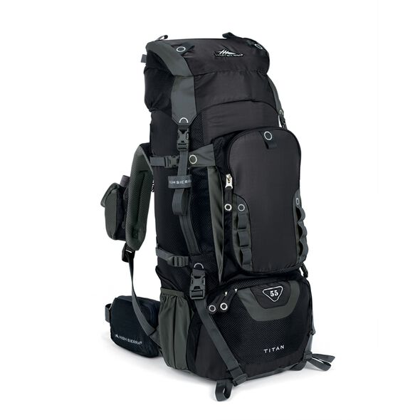 High Sierra Titan 55 Frame Pack in the color Black.