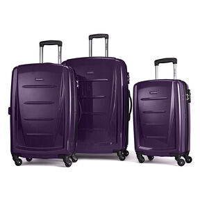 Samsonite Winfield 2 Fashion 3 Piece Spinner Set in the color Purple.