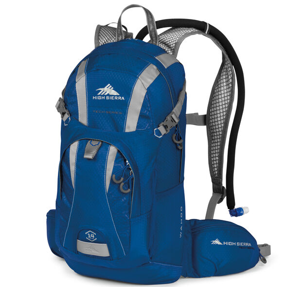 High Sierra Wahoo 14L Hydration Pack in the color Royal Cobalt/Silver.