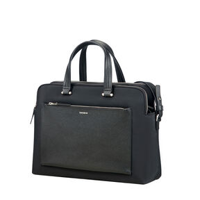 "Samsonite Zalia Organized Bailhandle 14.1"" in the color Black."