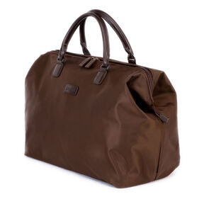 """Lipault Lady Plume 18"""" Weekend Satchel in the color Chocolate."""