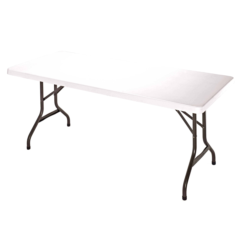 samsonite series rectangle 6u0027 blow mold folding table