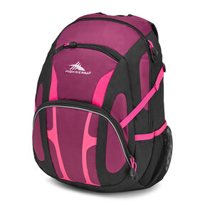 High Sierra Composite Backpack in the color Berry Blast/Black/Flamingo.