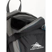 High Sierra Lenok Hydration Pack in the color Black/Charcoal/Pool.