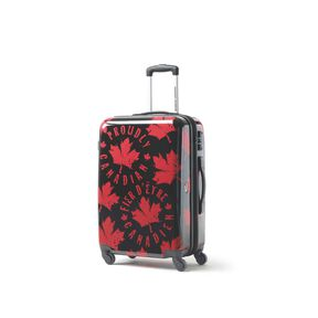 Canadian Tourister Collection Spinner Medium in the color Proud Leaf Red/Black.