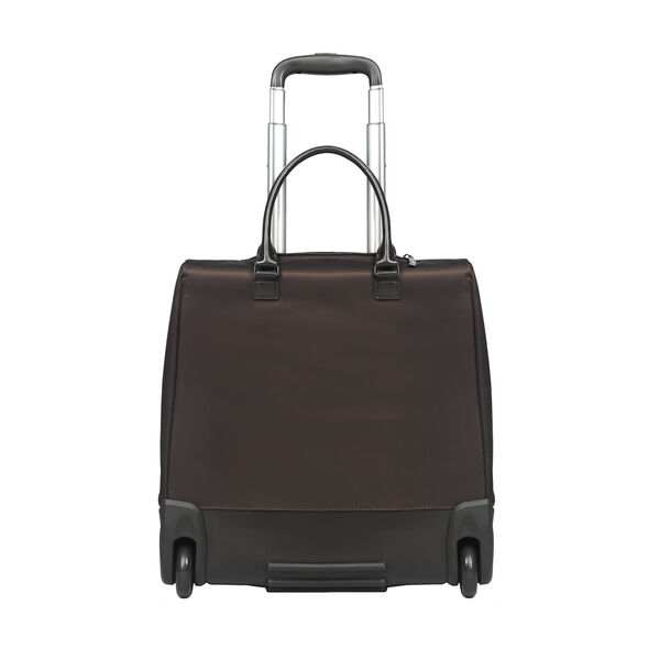 """Lipault Lady Plume Rolling Tote 15"""" in the color Black."""
