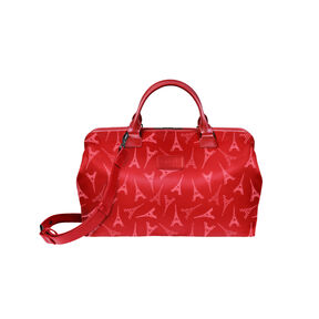 Lipault Lady Plume Bowling Bag (M) in the color Eiffel Tower/Ruby.