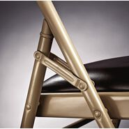Samsonite Fanback Steel & Leather Memory Foam Folding Chair (Case/4) in the color Chocolate.