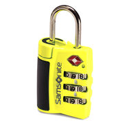 Samsonite Travel Sentry 3-Dial Combo Lock in the color Neon Yellow.