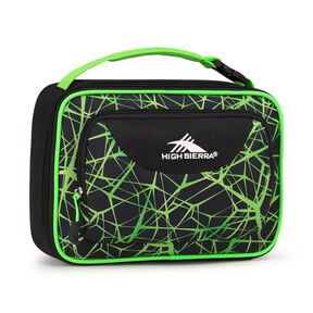 High Sierra Lunch Packs Single Compartment in the color Digital Web/Black/Lime.