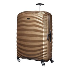 "Samsonite Lite-Shock Spinner Large (30"") in the color Sand."