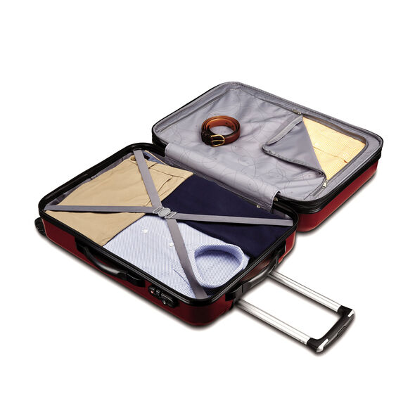 """Samsonite Carbon 2 28"""" Spinner in the color Red."""
