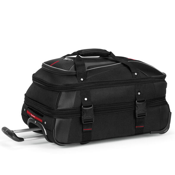 High Sierra AT7 Carry-On Wheeled Duffle in the color Black.