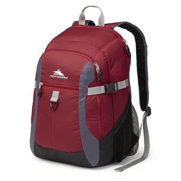 High Sierra Sportour Computer Backpack in the color Brick/Mercury/Black.