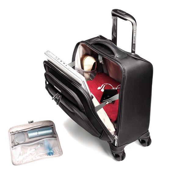 Samsonite Silhouette Sphere Spinner Boarding Bag in the color Full Black.