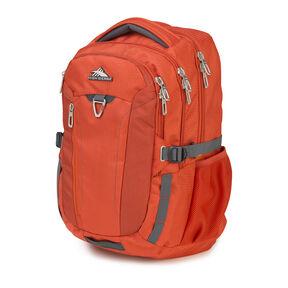 High Sierra Tephra Backpack in the color Crimson/Mercury.