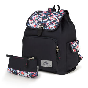 High Sierra Elly Backpack in the color Midnight Blue/Patchwork/Black.