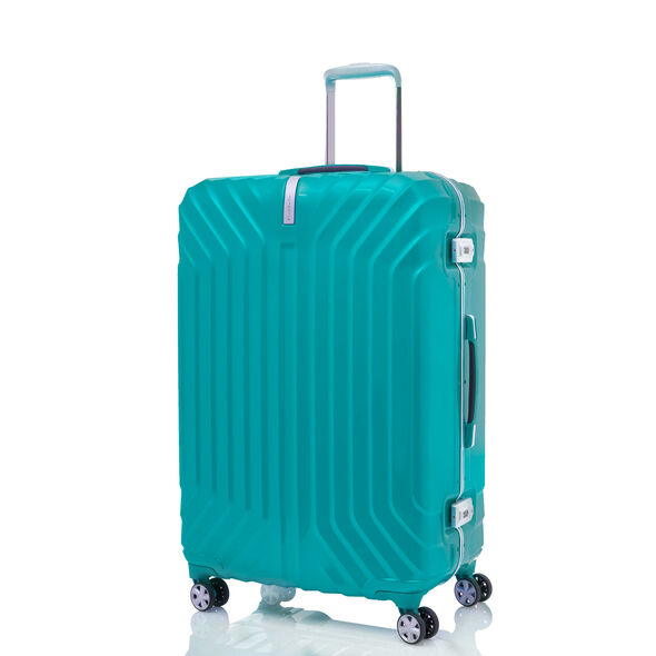 "Samsonite Tru-Frame Collection 28"" Spinner in the color Aqua Blue."