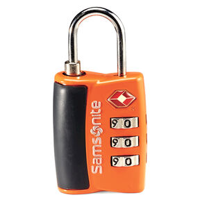 Samsonite Travel Sentry 3-Dial Combo Lock in the color Juicy Orange.