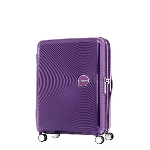 "American Tourister Curio 29"" Spinner in the color Purple."