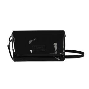 Lipault Plume Vinyle Clutch Bag M in the color Black.