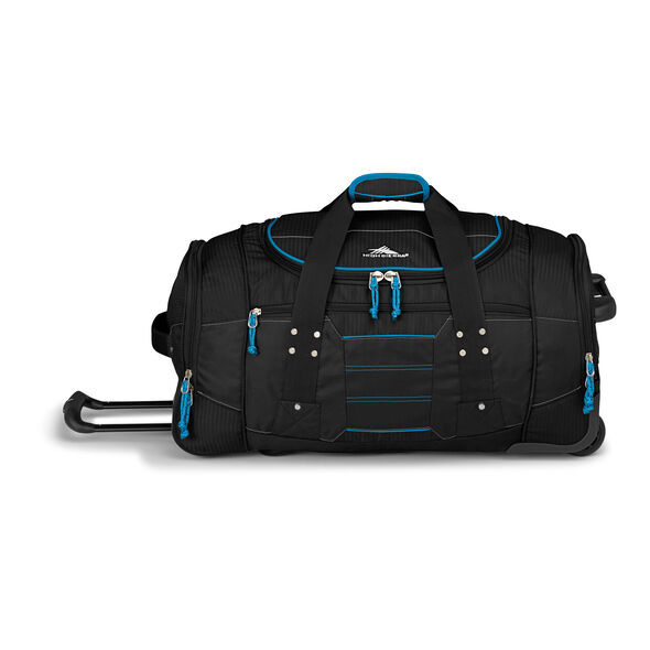 """High Sierra Ultimate Access 2.0 26"""" Wheeled Duffel in the color Black/Blueprint."""