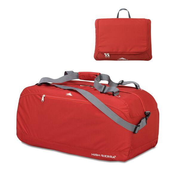 "High Sierra 30"" Pack-N-Go Duffel in the color Carmine Red."