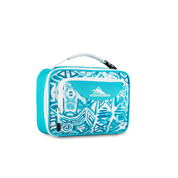 High Sierra Lunch Packs Single Compartment in the color Teal Shibori.